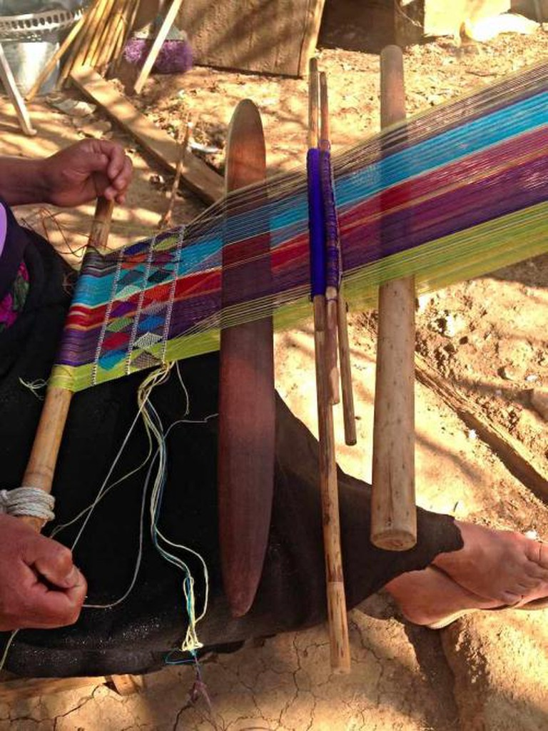 Artisan weaving   Courtesy of Carmen Rion