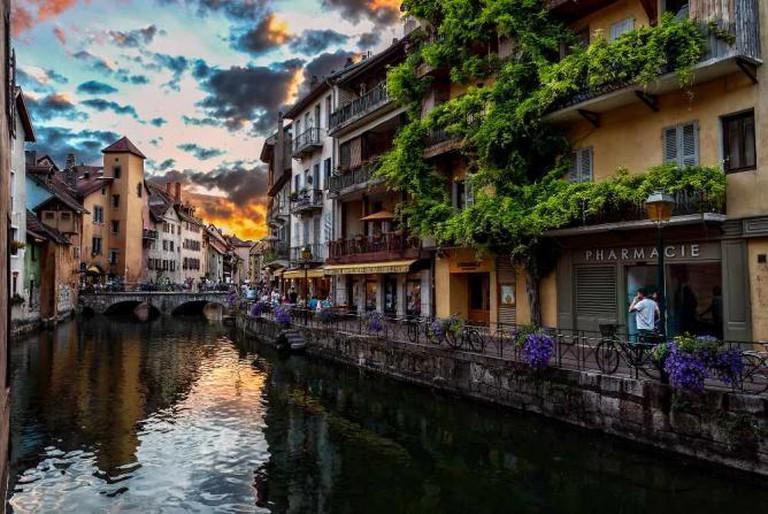 Atardecer en los canales de Annecy | © Miguel Diaz/Flickr