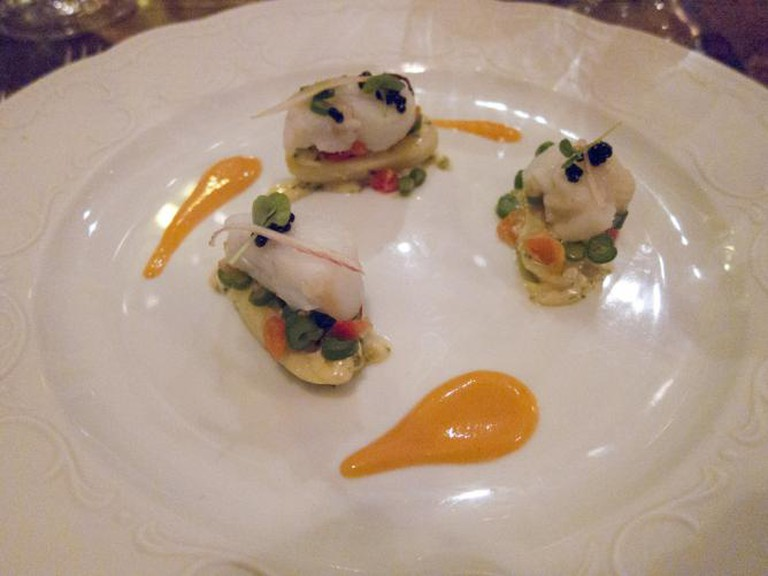 2ème entrée at Bistro Vue: Crayfish salad on potato with green onion