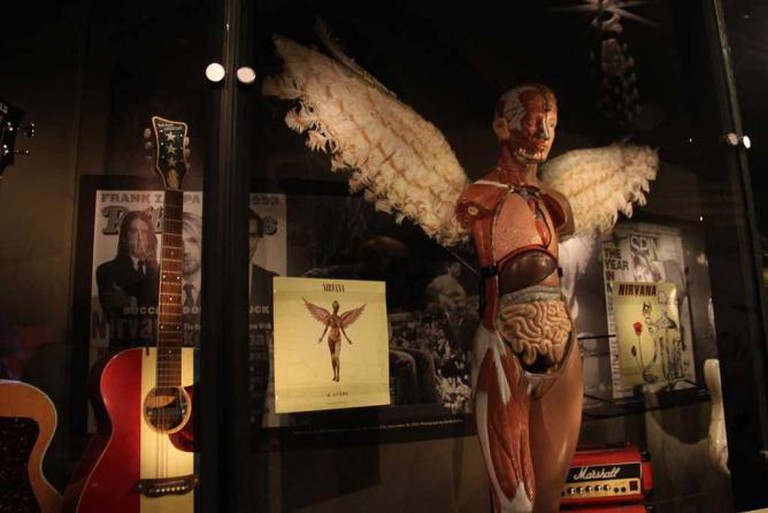 Nirvana display at Experience Music Project, Seattle © Theresa Arzadon-Labajo/WikiCommons