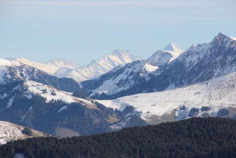 Bärglistock, Schreckhorn, Lauteraarhorn and Eiger