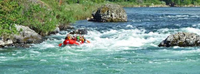 Rafting on the Spokane River