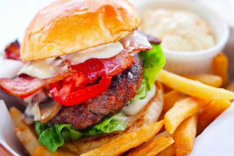 Bacon Marinated Burger | Courtesy of Roadhouse Restaurant