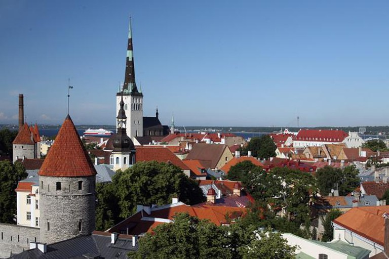 View from Toompea with St Olaf's spire visible | © aiko99ann/Wikicommons
