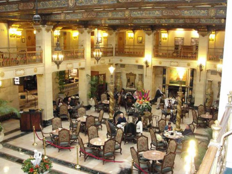 The Historic Davenport Hotel lobby