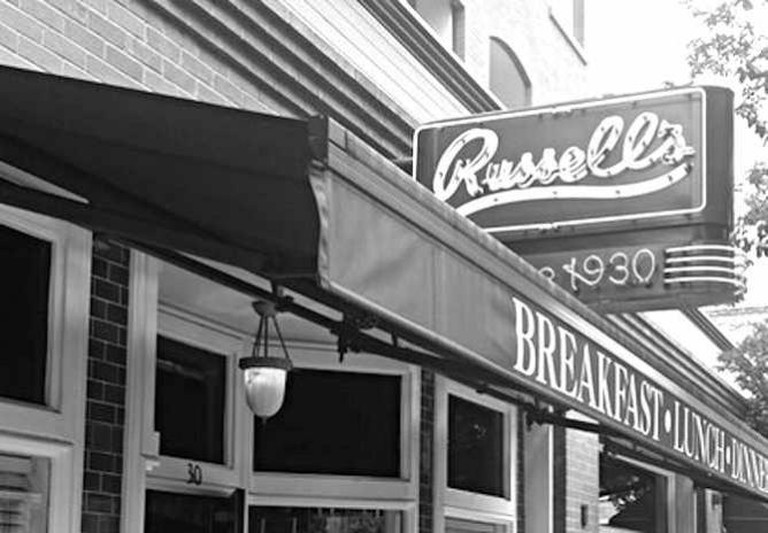 Storefront of Russell's   © Sabina Li