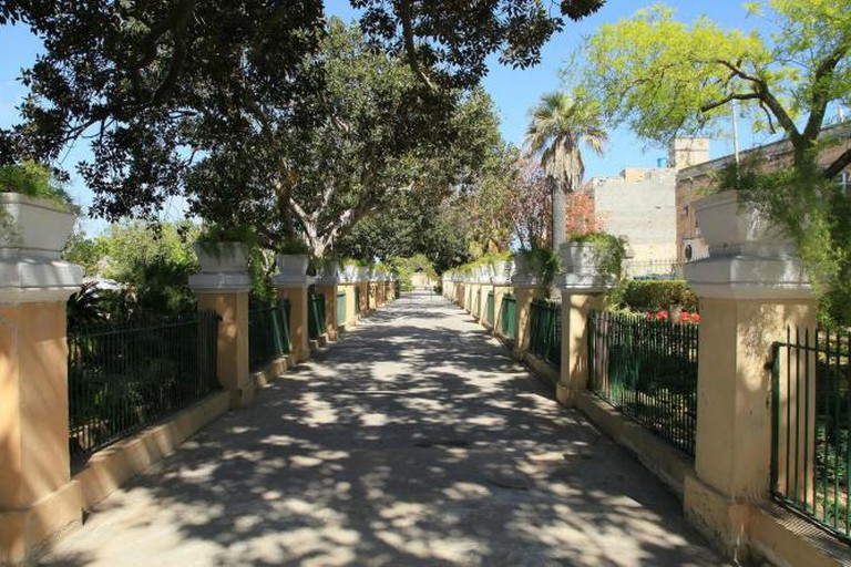 Argotti Botanic Gardens at Triq Vincenzo Bugeja in Floriana, Malta