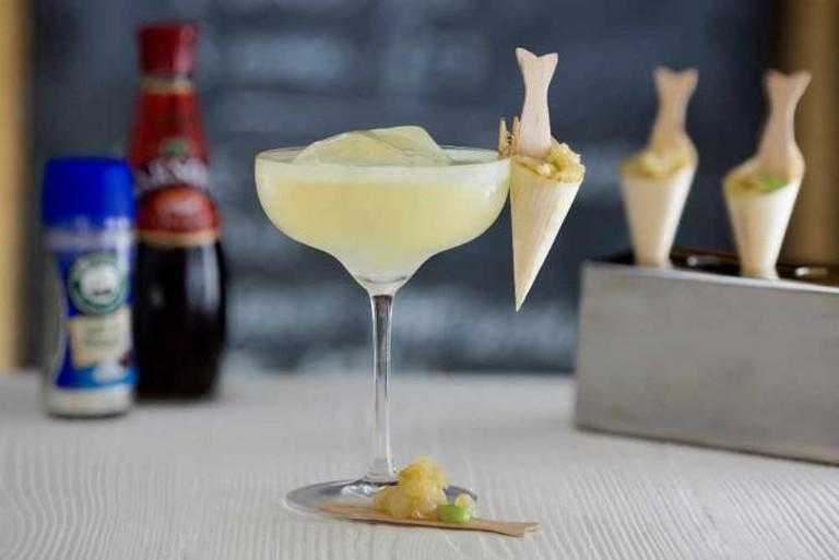 Fish & Chip Shop Margarita | Courtesy of The Shrub & Shutter