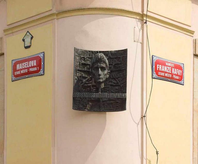 Memorial at the site where Kafka was born | © Godot13/WikiCommons
