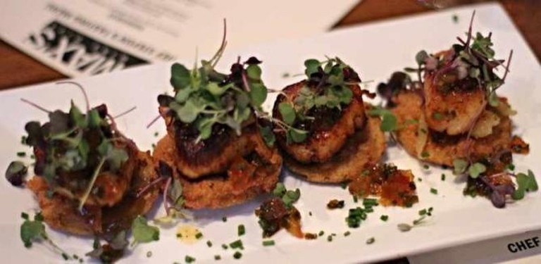 A southern comfort appetizer at MAX's Wine Dive.