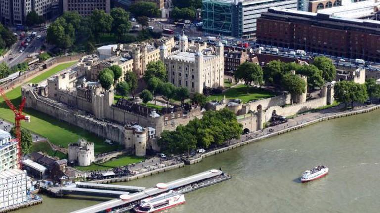 Aereal view Tower of London   © Rafa Esteve/WikiCommons