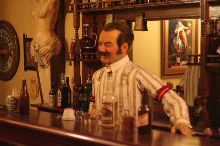 Bartender in Streets of Old Milwaukee at Milwaukee Public Museum