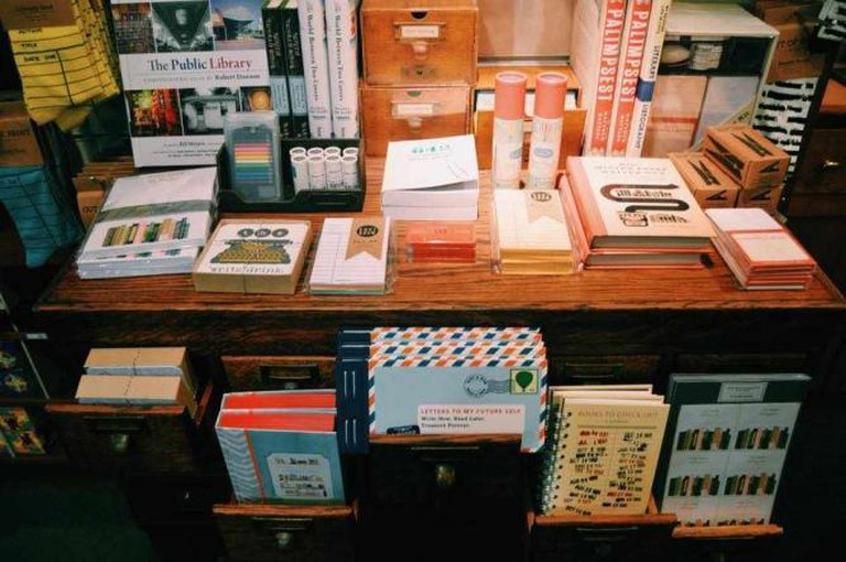 A table display at the Library Store   © Michelle Pagaran