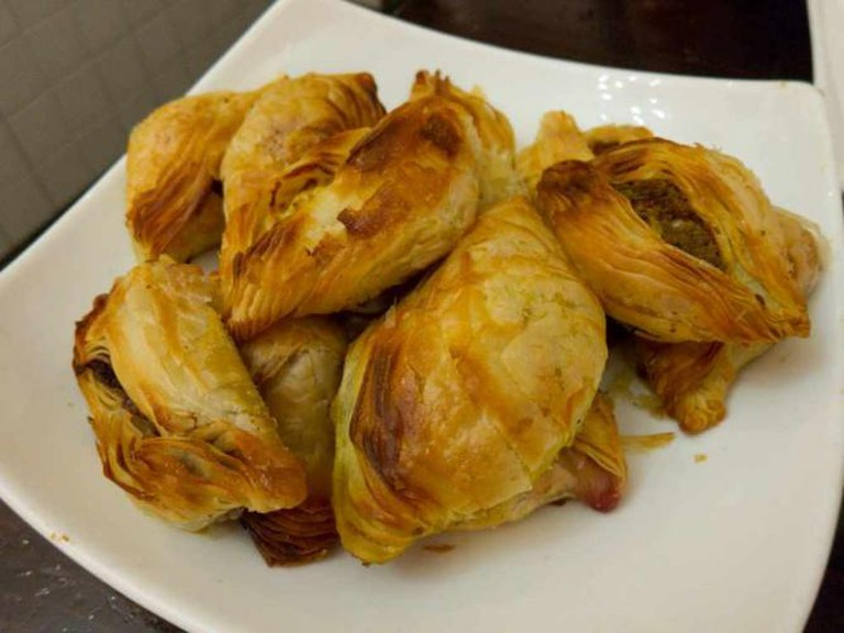 Pastizzi, traditional local pastries