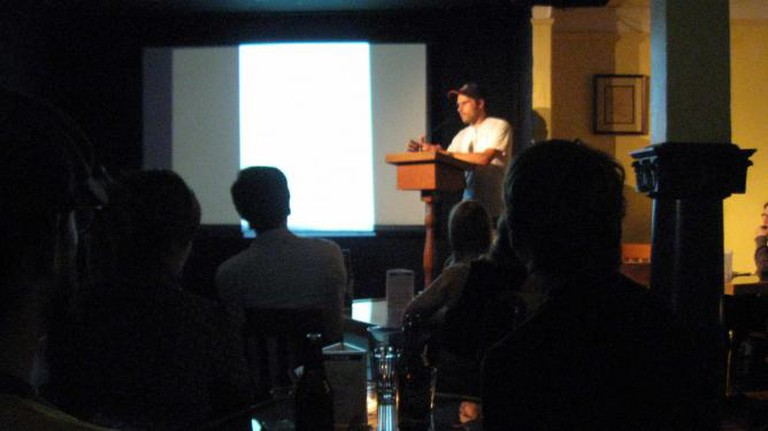 John Porcellino reading from his comics at Hugo House