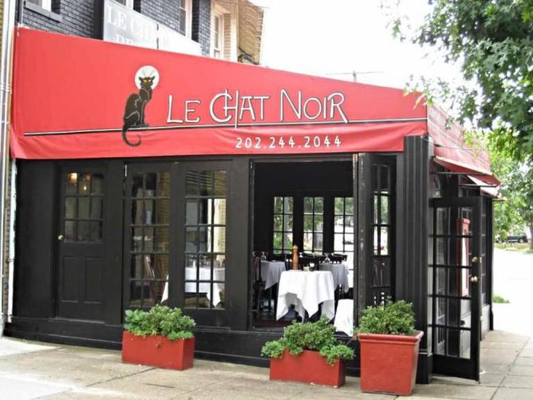 The exterior of Le Chat Noir.