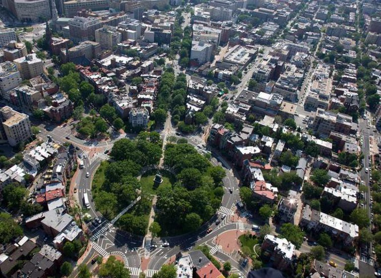 Aerial view of Logan Circle