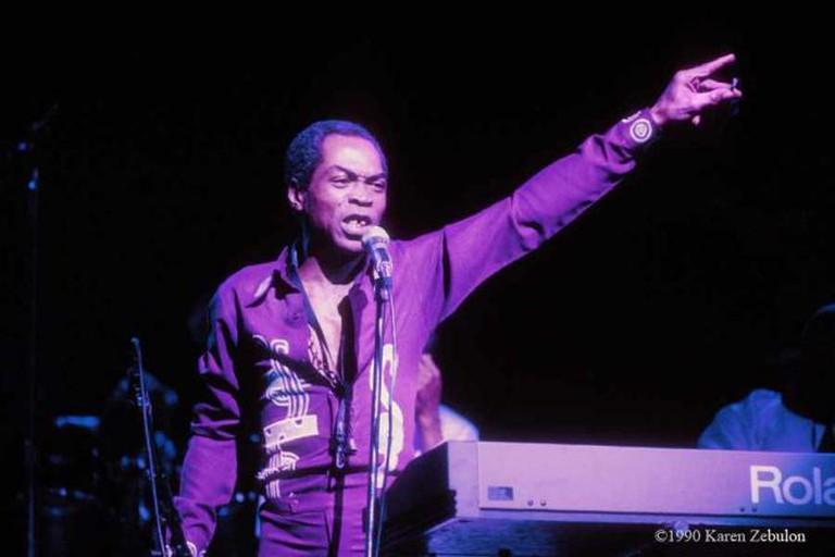 Fela Kuti, Live at The Ritz in New York City, 1990   © Karen Zebulon/Courtesy Fela.net