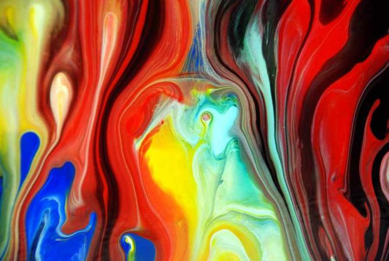 Fluid Painting Abstract Art | © Mark Chadwick/Flickr