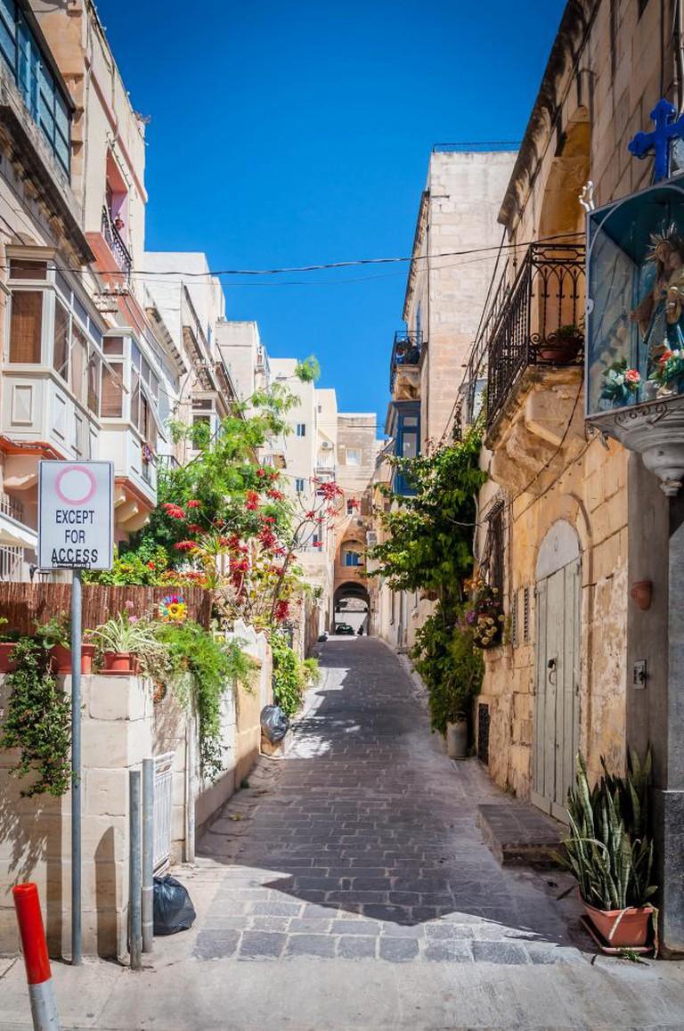 The streets of Sliema