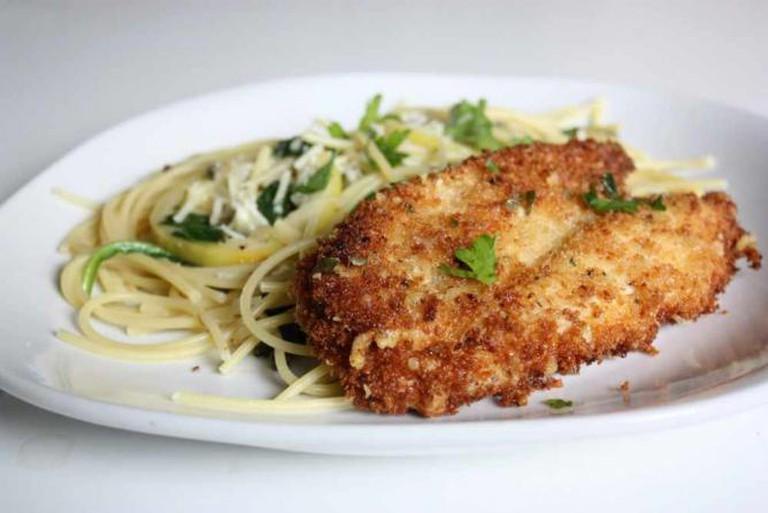 Parmesan Crusted Chicken Picatta   © alanagkelly/Flickr