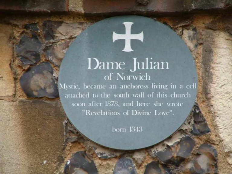 Plaque commemorating Julian of Norwich | Ⓒ Gary Troughton/Flickr