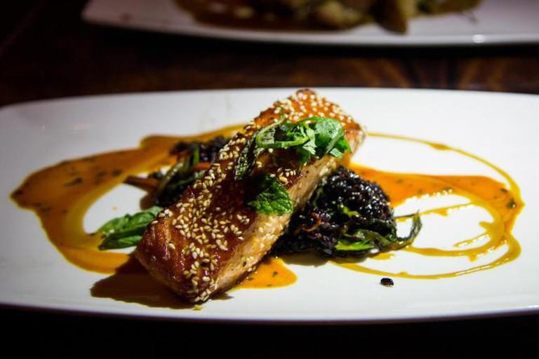 Sesame Soy Glazed Salmon
