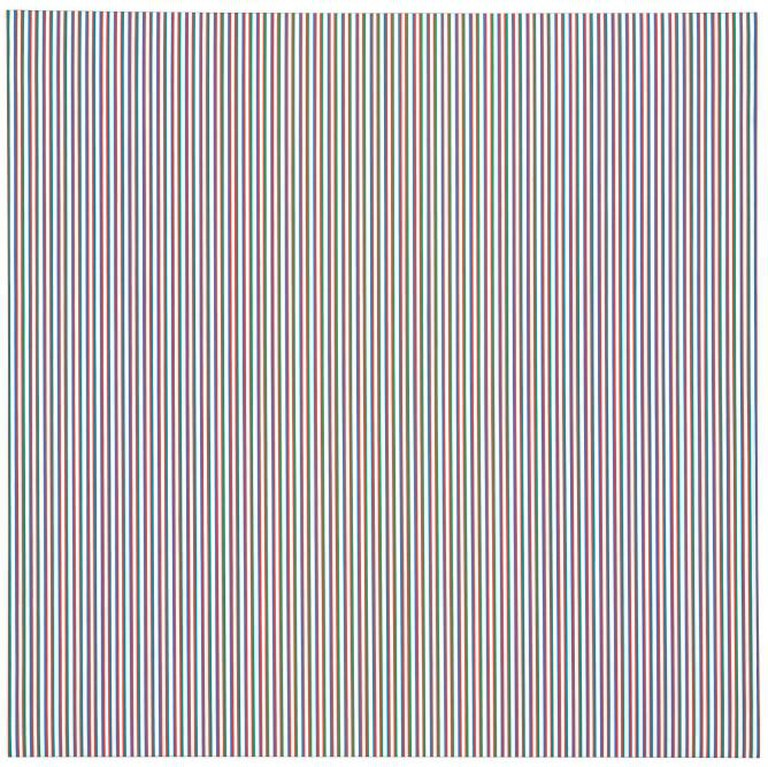 Bridget Riley, Late Morning I, 1967, acrylic on linen, 89 1/2 x 89 1/2 in © Bridget Riley 2015. All rights reserved, courtesy Karsten Schubert, London.