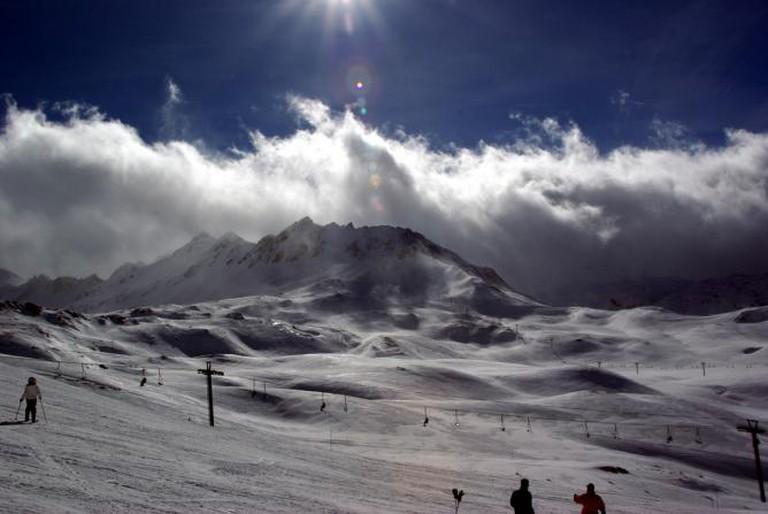 Montagne et nuages