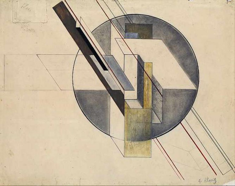 Gustavs Klucis, Construction, 1921, 49.3  x 62.7 mm, Latvian National Museum of Art | © Google Cultural Institute/WikiCommons