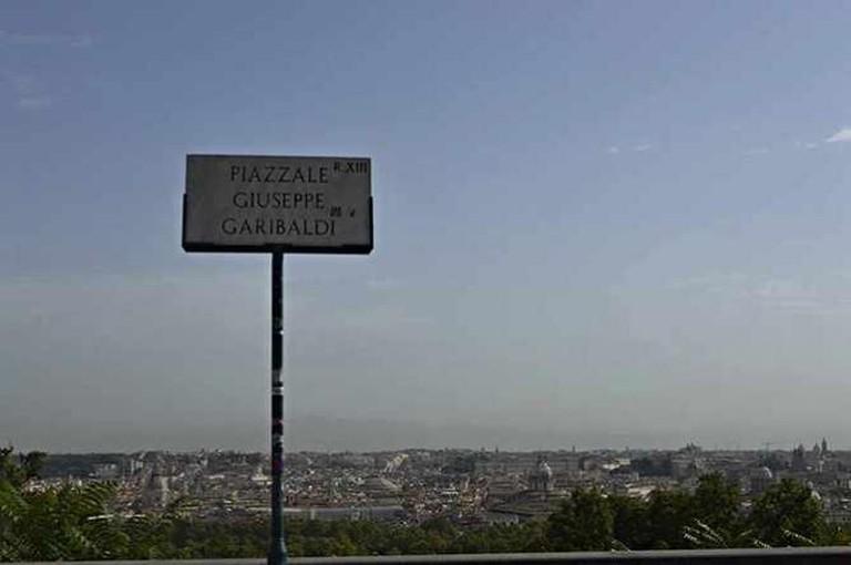 Piazzale Giuseppe Garibaldi, Roman Landscape View   © Flavia Antonelli