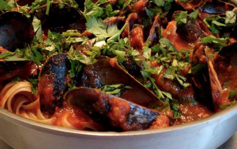 Marinara Garlic Mussels