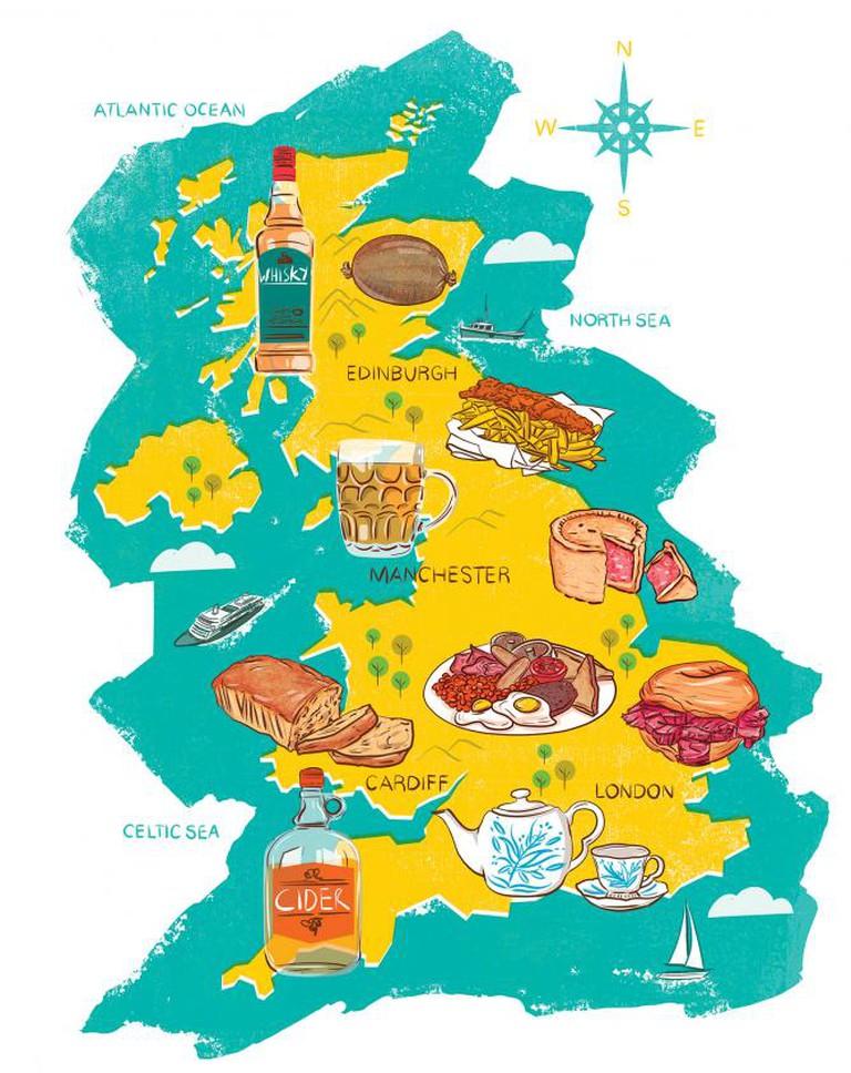 Food Map of England | Courtesy of Edward McGowan, Eating London