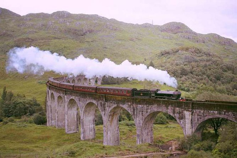 The Jacobite over Glanfinnan Viaduct