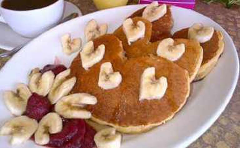 Banana hotcakes, Courtesy of Restaurante del Museo