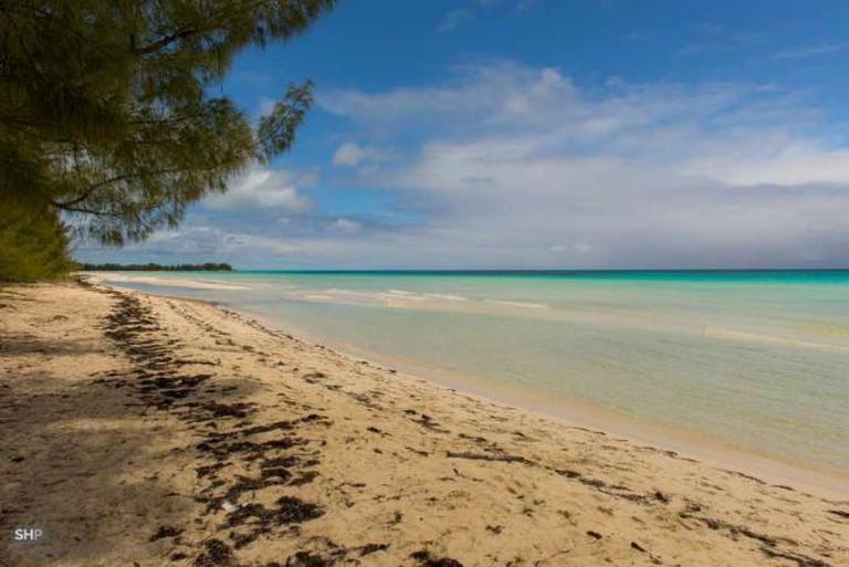 White-sand beach