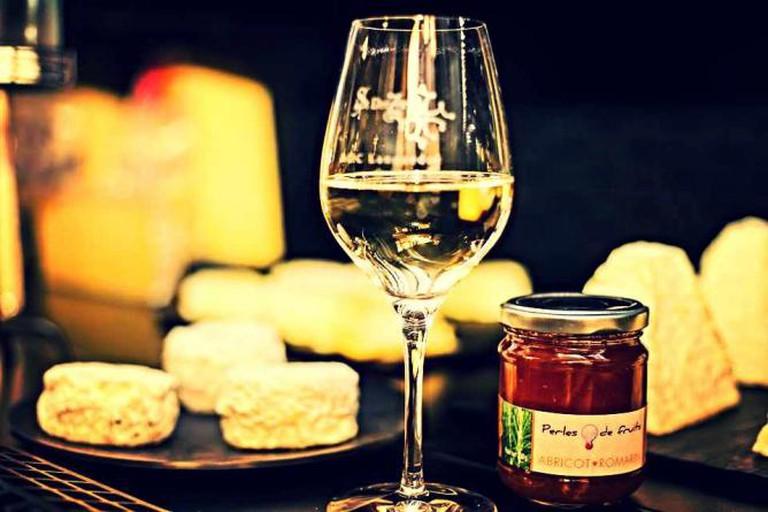 Cheese and wine | Courtesy of La Fine Mouche