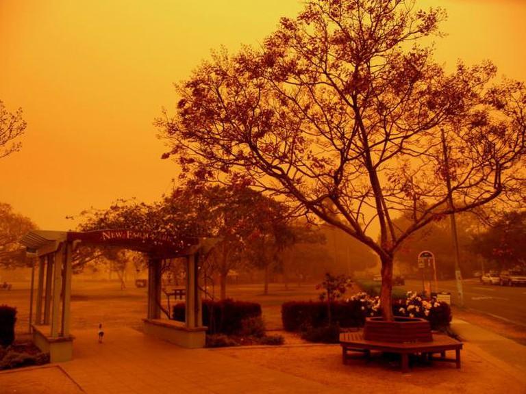 New Farm Park during a dust storm | © Joshua Byrd/Flickr
