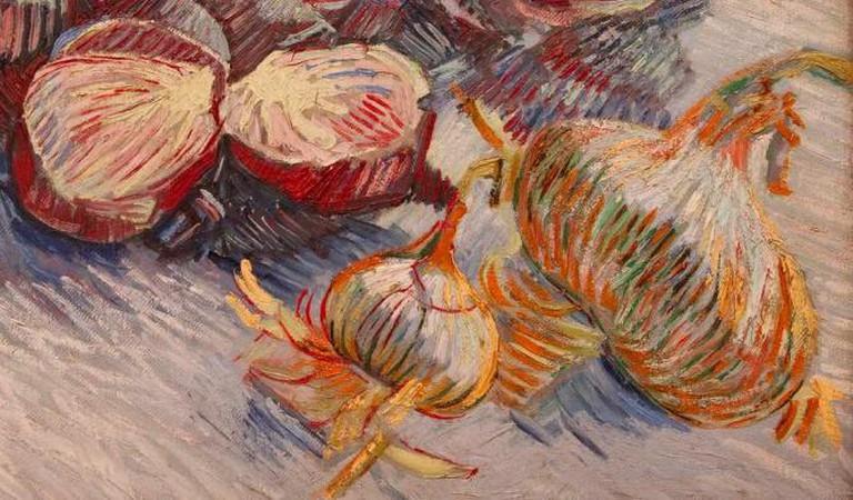Rodekolen en ui Vincent Van Gogh