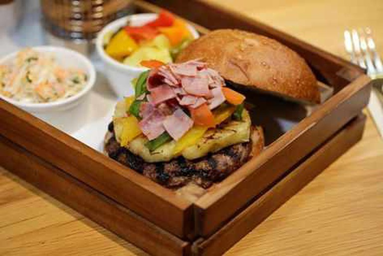 The Caribbean burger | Courtesy of Urban Gourmet Burgers