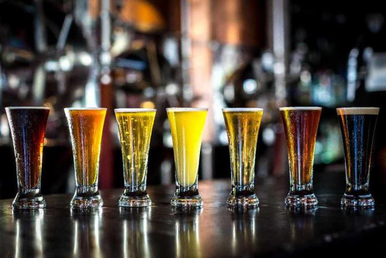 Selection of beers | courtesy of Los Muertos Brewing