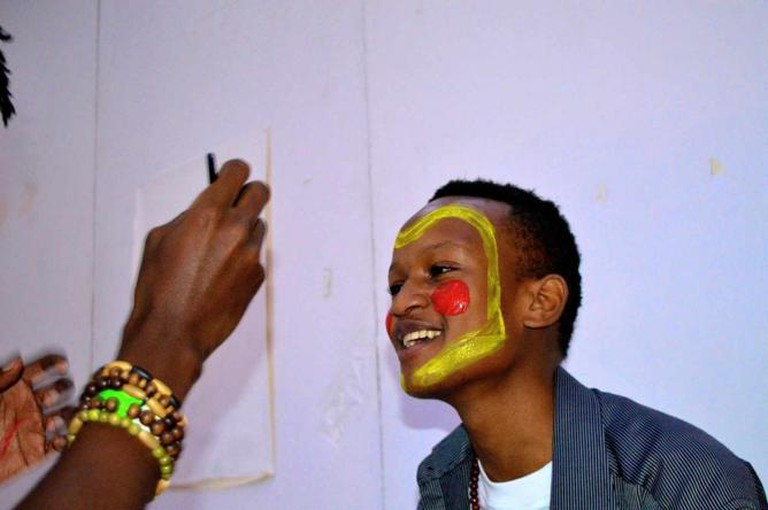 The Face Painting Corner | Photograph by Dave Ndegwa
