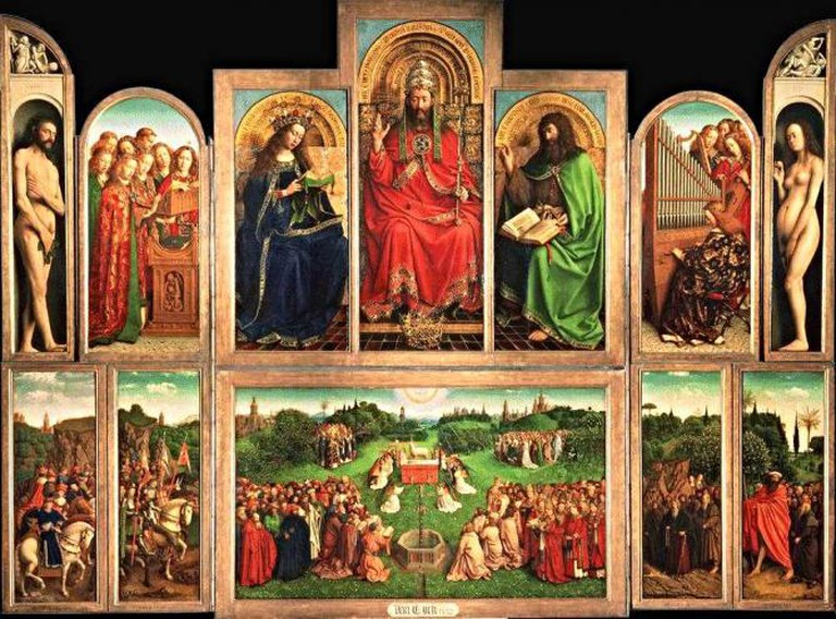 Jan and Hubert Van Eyck's Ghent Altarpiece, with wings open | © MGA73bot2/WikiCommons