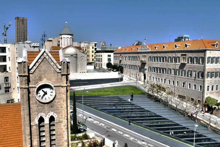 Grand Serail and Hamidiyyeh Clock Tower