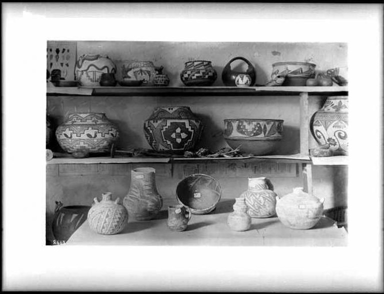 Collection of about 25 pieces of Pueblo Indian pottery from(?) the collection of Reverend Dr. George Cole, ca.1900 (CHS-2668) | © Ashley Van Haeften/Flickr