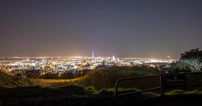 Mt Eden and the Auckland skyline