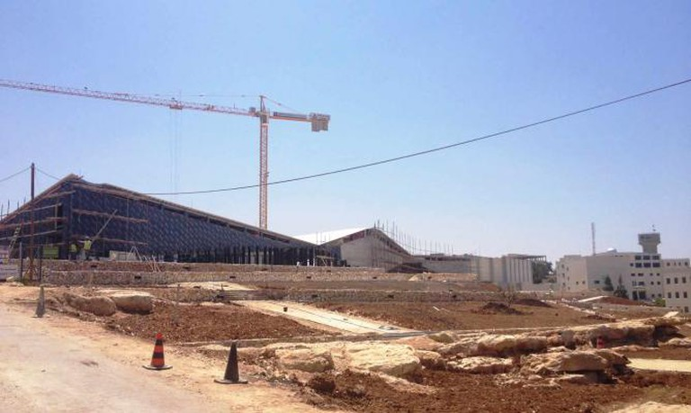 The Palestinian Museum's construction site, July 2015   Courtesy of The Palestinian Museum