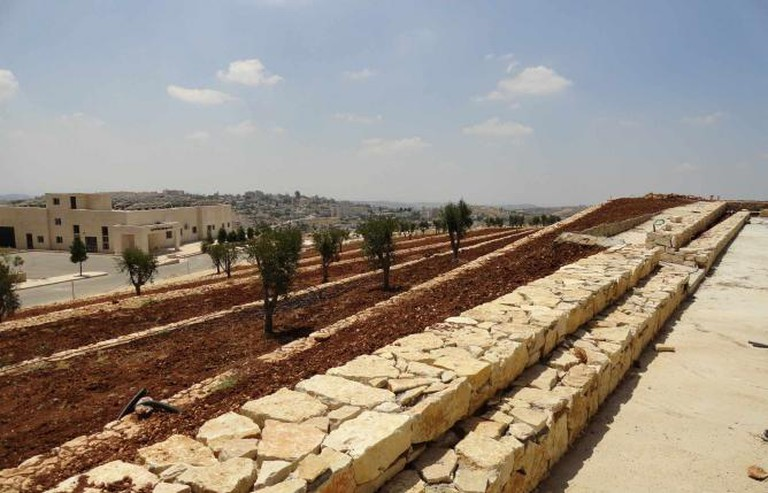 The Palestinian Museum's Garden Terraces, June 2015   Courtesy of The Palestinian Museum