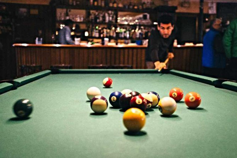catch a game of billiards at Rumbleseat