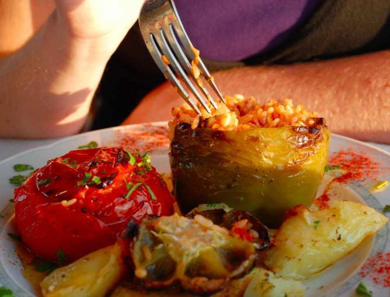 Stuffed Pepper and Tomato | © Heather Cowper/Flickr